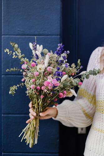 bouquet rose pollenatelier